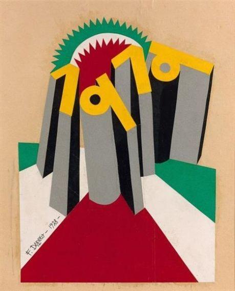 Fortunato Depero, 1919 progetto per copertina