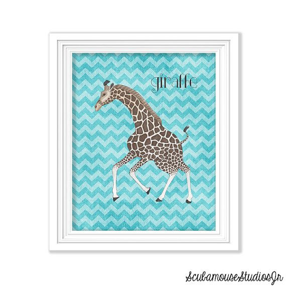 Printable Nursery 8x10 Baby Giraffe Print by ScubamouseStudiosJr, $2.00