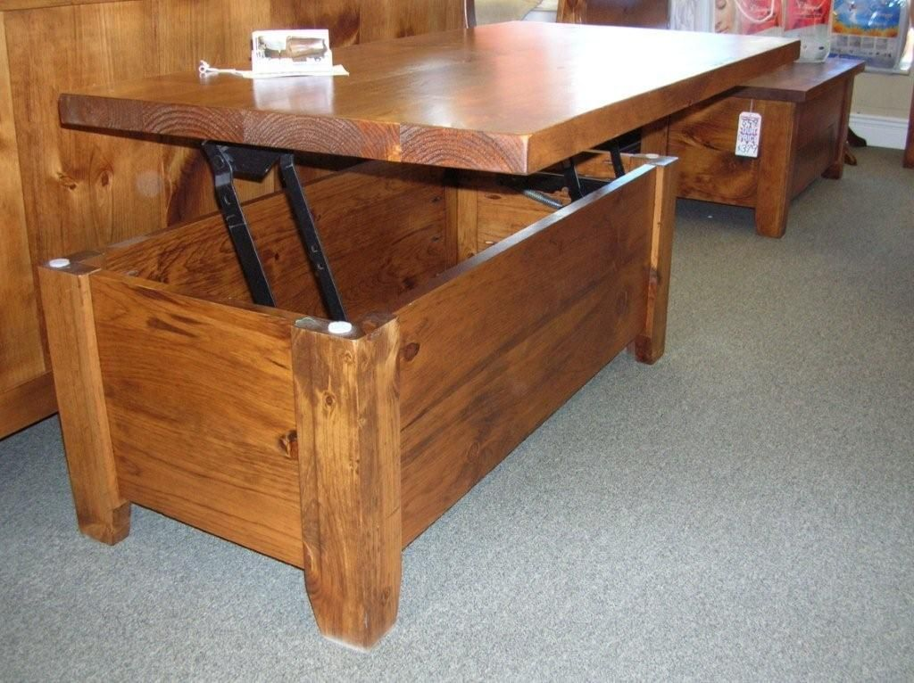 Cofee Table Lift Top Coffee Pine Storage Square Wooden Hart S Country Furniture