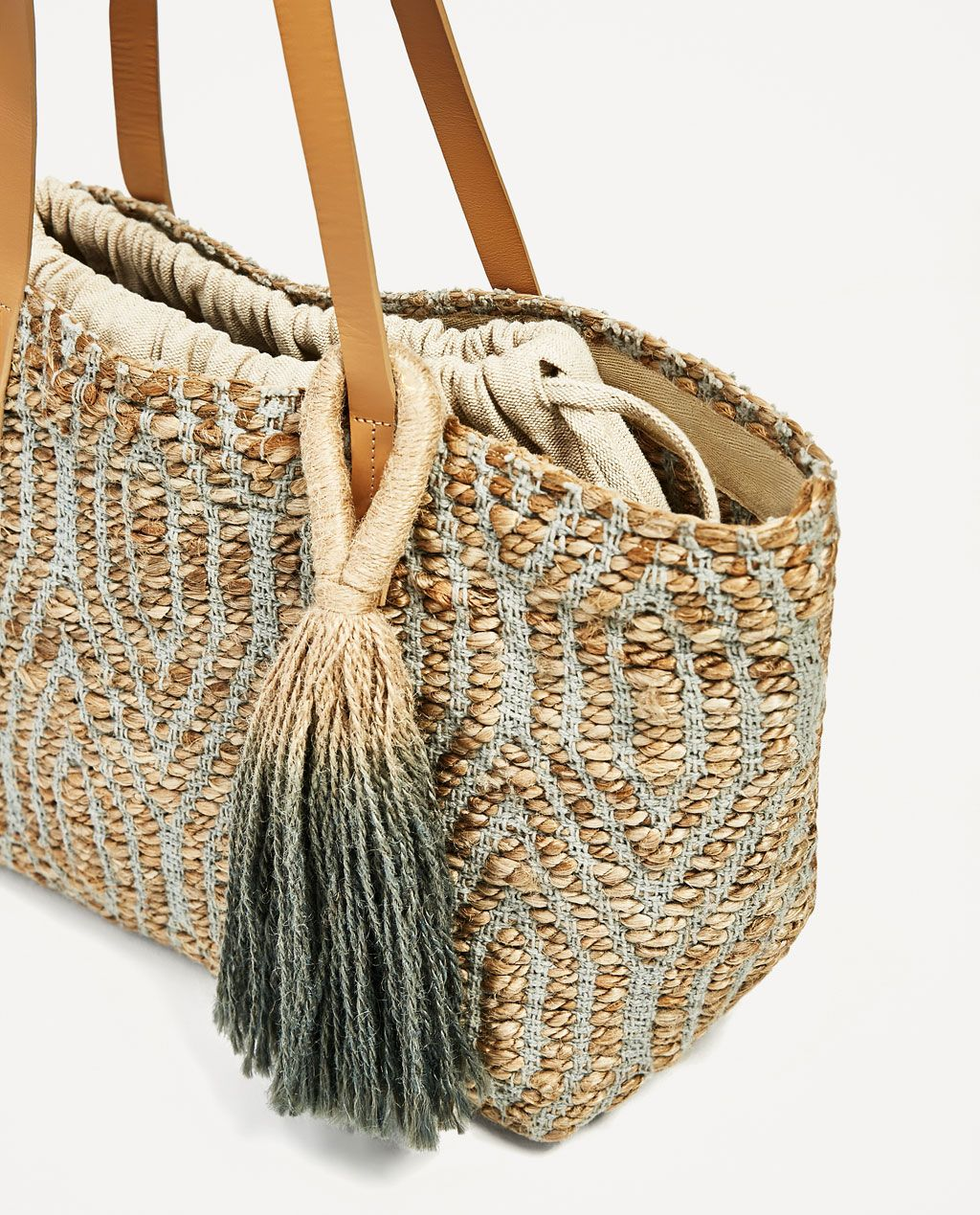 Image 4 of EMBROIDERED TOTE WITH TAB from Zara | Style // Bags ...