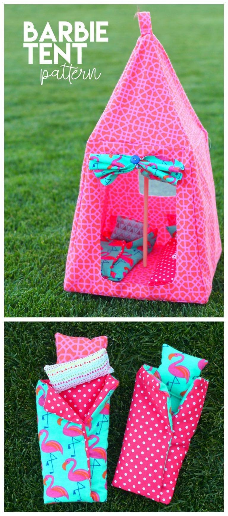 Barbie Tent Pattern #barbiefurniture