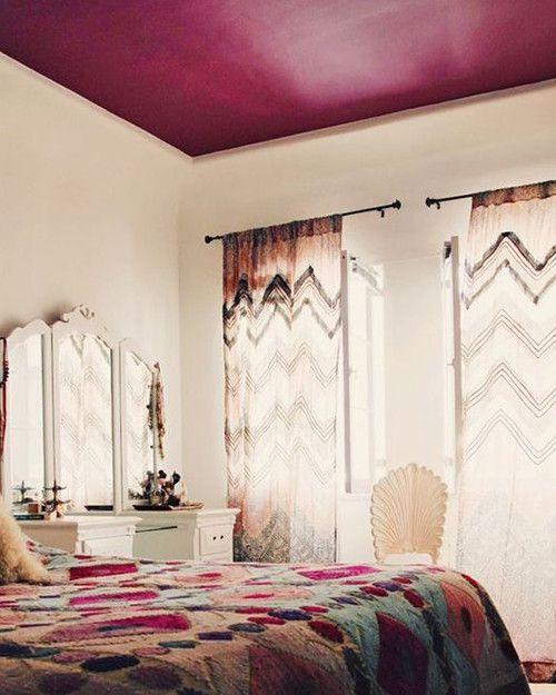 12 Techos Pintados Que Llevan El Arcoiris A Tu Casa Techo De Color Techos Pintados Paletas De Colores Para Dormitorio