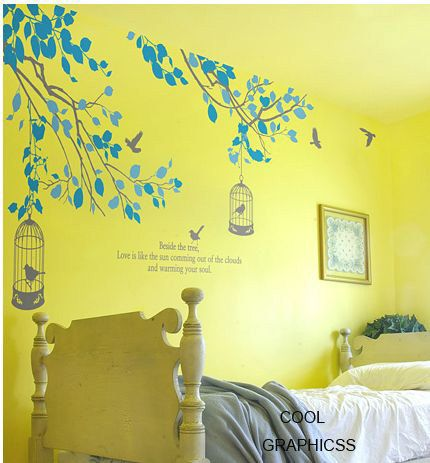 wall decal branches vinyl wall decal trees wall sticker wall decal ...