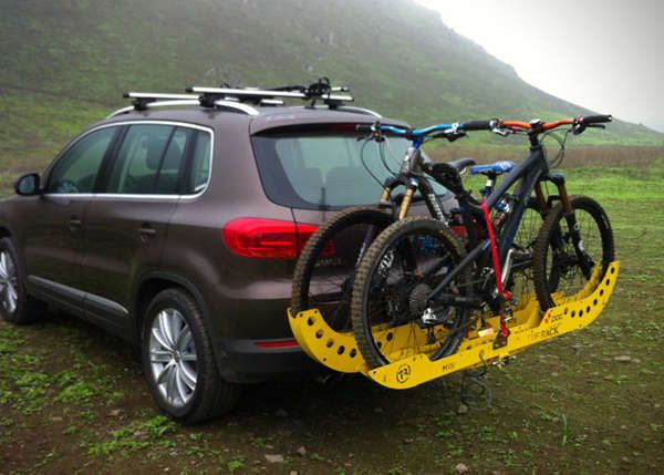 Vibrantly Colored Bike Racks Car Bike Rack Bicycle Storage Car