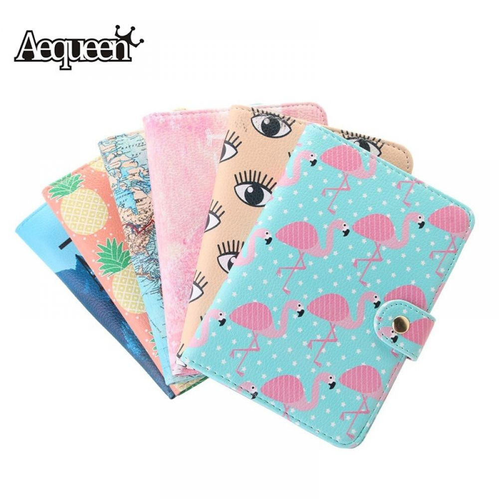 Unisex Girly Passport Case Fashion Summer Cute Fruit Pineapple Leather/&microfiber Multi Purpose Print Travel Passport Case Travel Wallets For Women Men 7.5x4.2 Inch