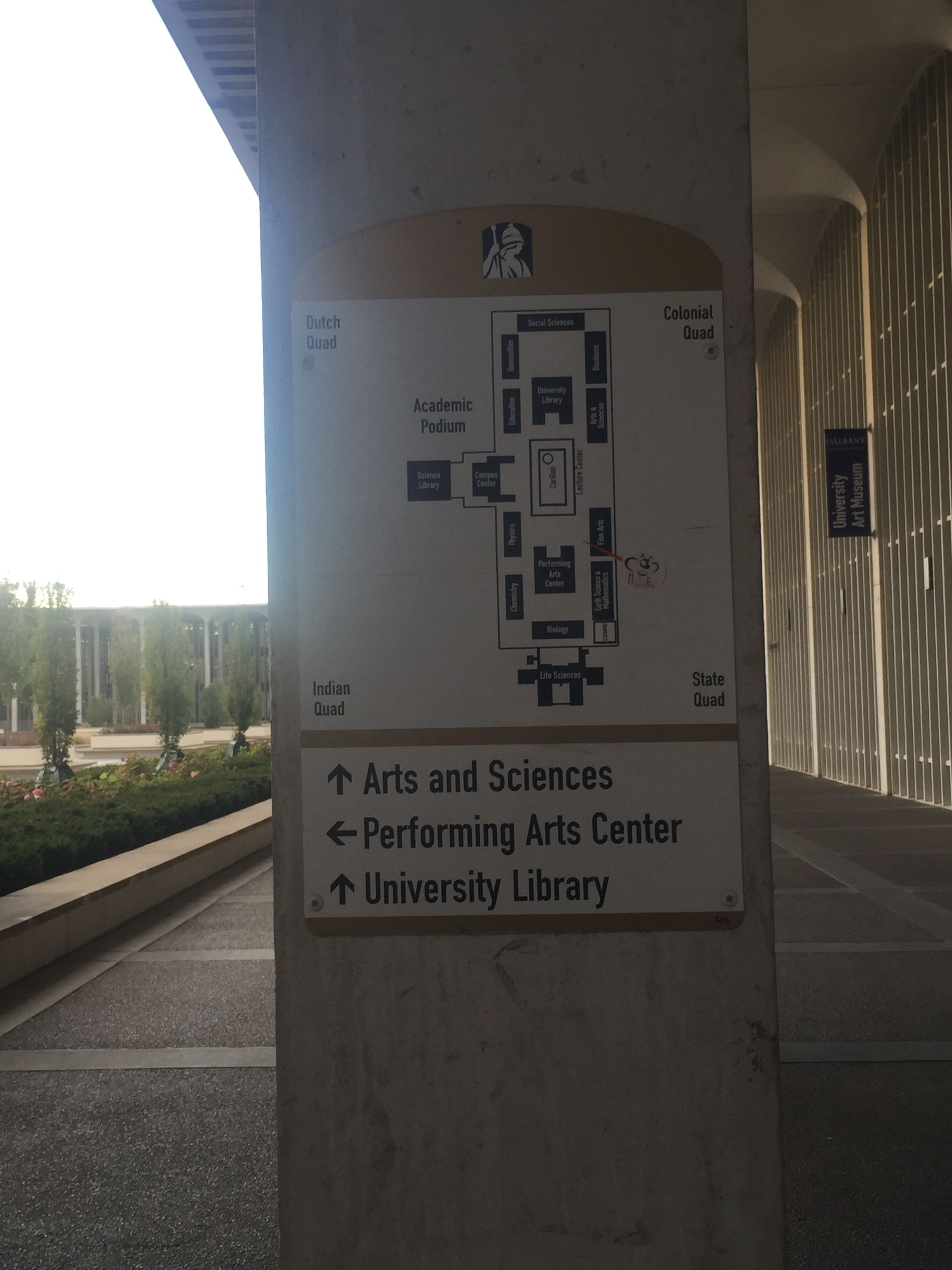 Directional sign performing arts center