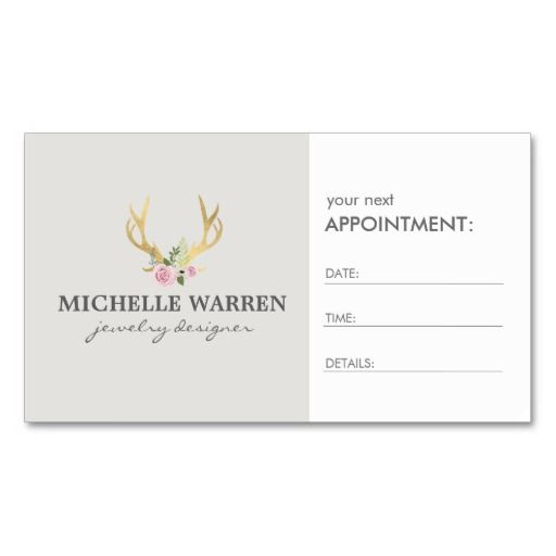 Bohemian gold antlers ii appointment card business card template bohemian gold antlers ii appointment card business card template cheaphphosting Image collections