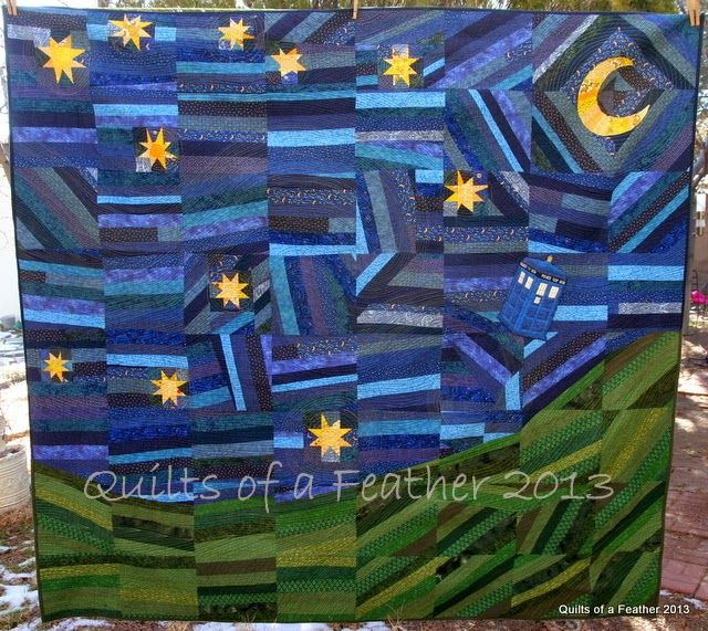 Quilts of a Feather: The Doctor's Starry Night Quilt | Quilting ... : starry night quilt pattern - Adamdwight.com