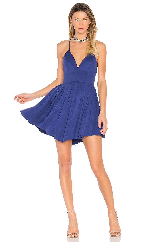 d98c44b02d7 NBD Suki Mini Dress in Deep Cobalt Pleated Skirt, White Skater Skirt, White  Mini