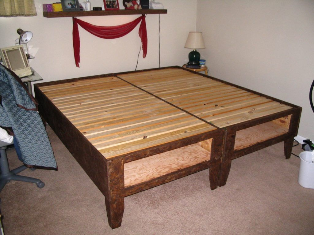 king size bed frame with drawers underneath plans - King Size Bed Frame With Drawers Underneath
