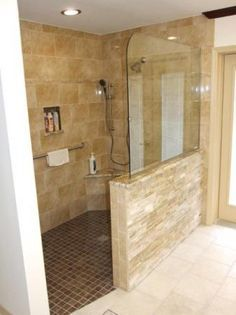 Another Half Wall Gl Open Shower