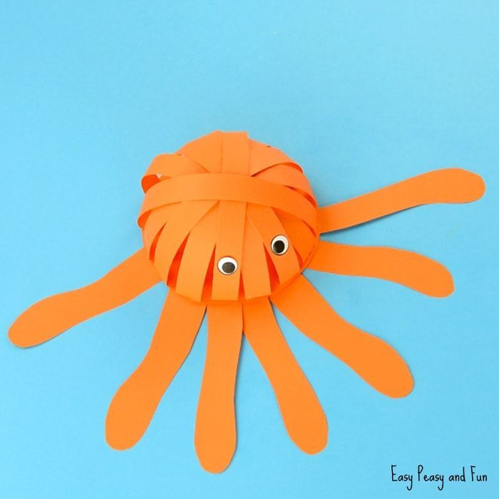 Simple Paper Octopus Craft  Summer Crafts for Kids is part of Simple Kids Crafts Summer - Ready for some summer crafting with kids  We're diving deep with this simple paper octopus craft that's both fun to make and to play with  We are so excited to kick off our sea animal crafts series as we have a whole lot of ideas to share with you  this post contains affiliate links Sea …