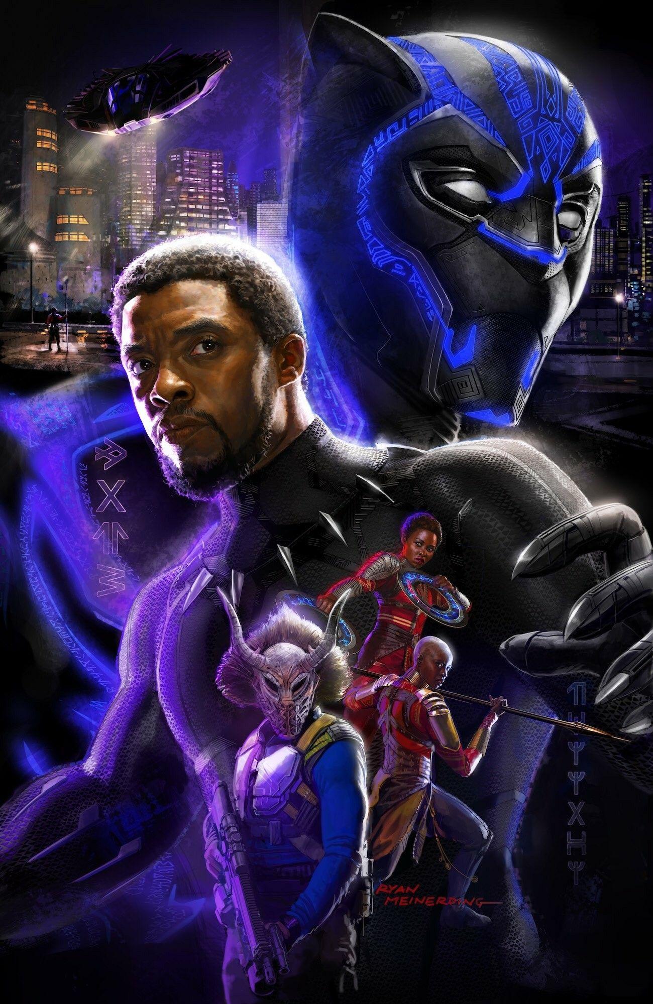 Ryan Meinerding Black Panther Poster | Marvel Cinematic ...