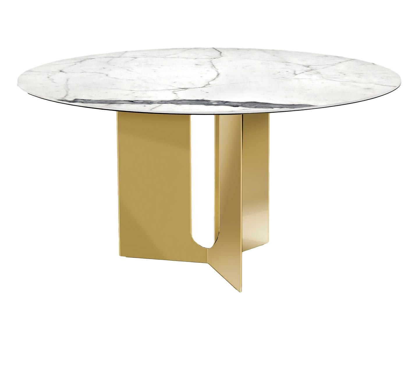 Pierre Dining Table Brass Modern Dining Room Tables Dining