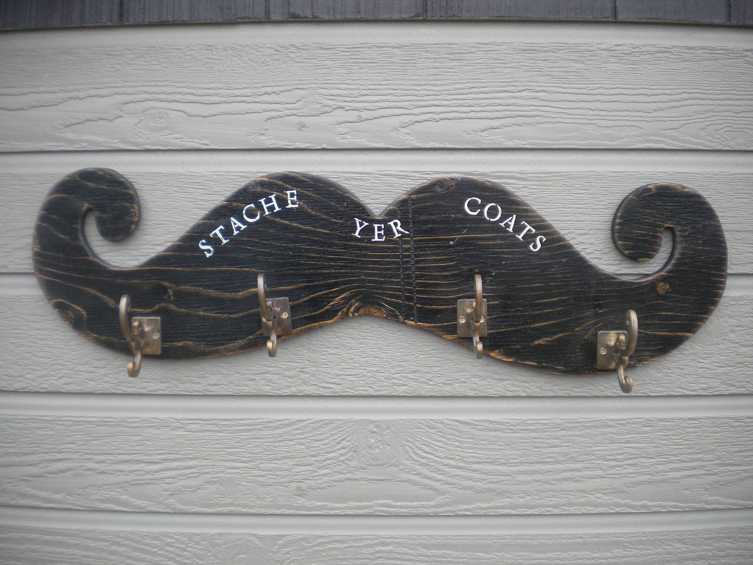 Lrg Mustache Coat Rack Fun Home Decor By Theblackscottie1 On Etsy