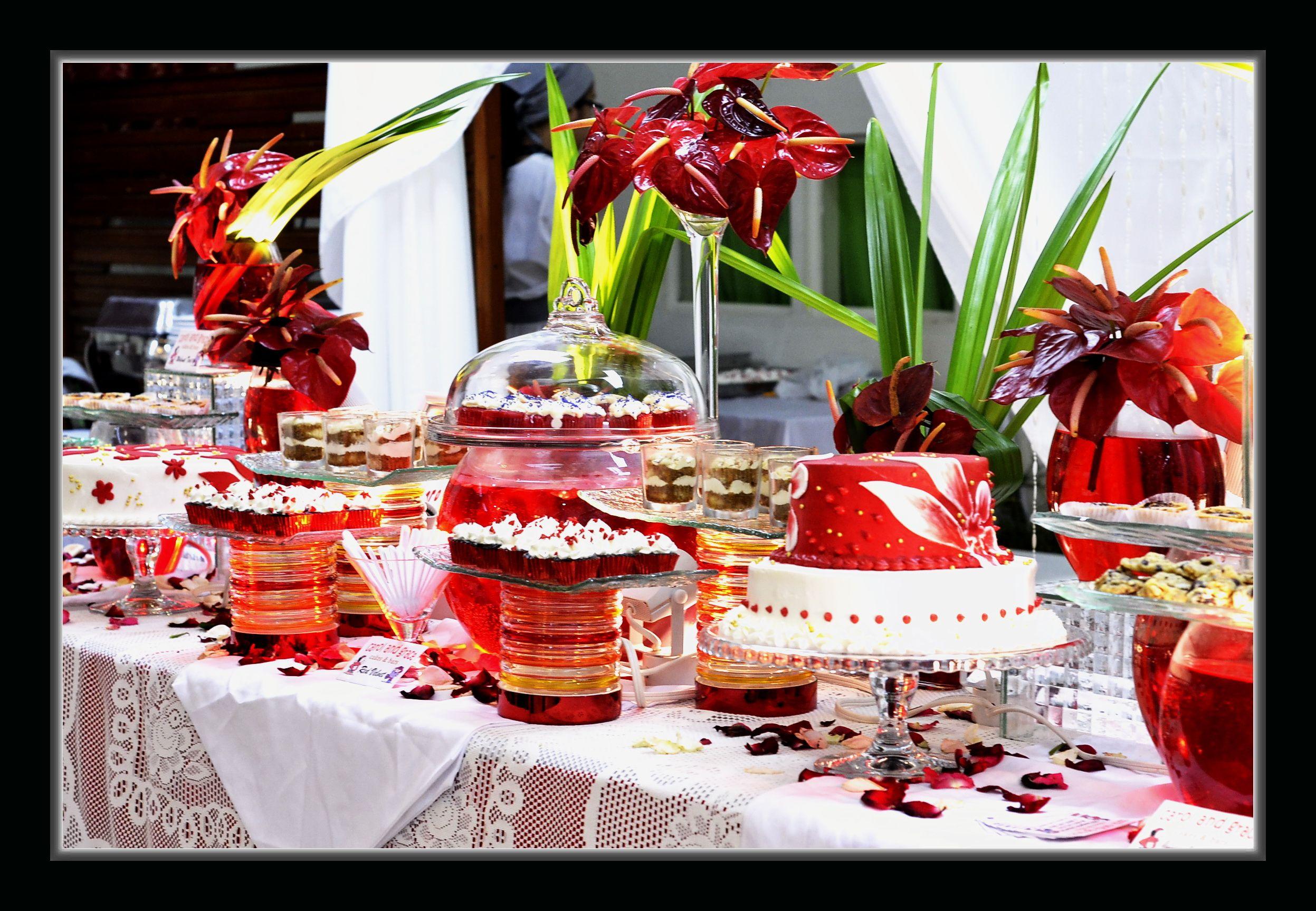 Ruby wedding anniversary dessert buffet by carol and grace