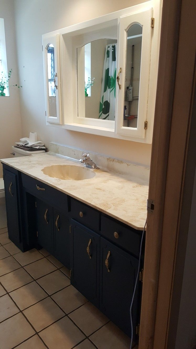 navy blue bath cabinets with images  rustic bathroom