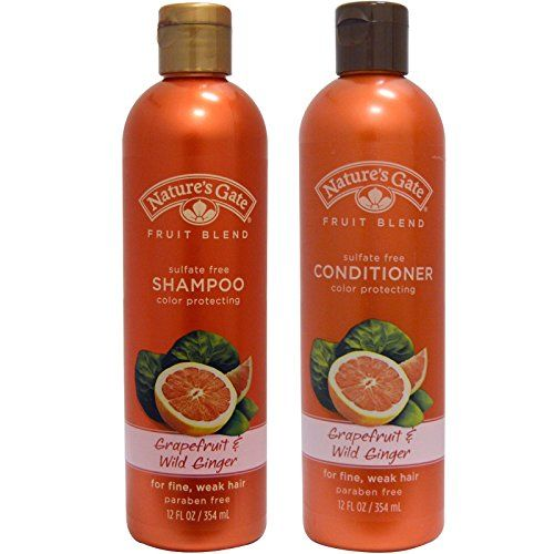 Natures Gate Fruit Blend Shampoo and Natures Gate Fruit Blend Conditioner Bundle for Color Protecting With Grapefruit and Wild Ginger 12 fl oz 354 ml each -- Check out this great product.(This is an Amazon affiliate link)