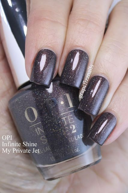 Copied These Ideas And Combined Them To Make My Own Rustic: OPI Infinite Shine My Private Jet