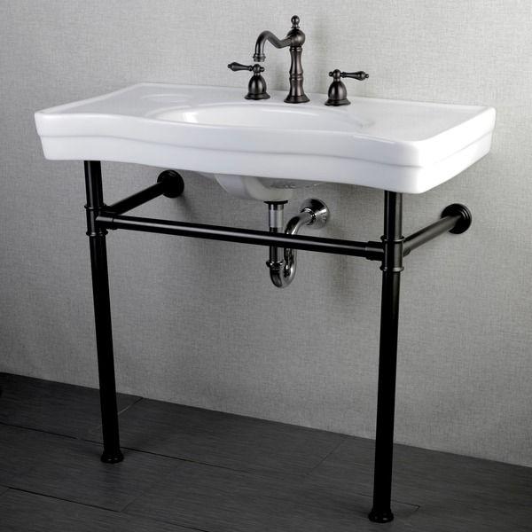 Bathroom Sinks Pedestal imperial vintage 36-inch oil rubbed bronze pedestal bathroom sink