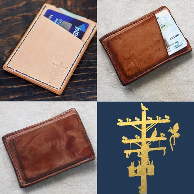 A few days ago I posted this well worn card wallet; here it is again alongside the 'before' picture. The evolution of this wallet is just insane. #followthepatina  #handmade #saddlestitched #handstitched #leatherwallet #cardwallet #leathergoods #pigeontreecrafting #vegtan #naturalleather #indigo #bespoke #fashion #style #mensfashion #mensstyle #denim #rawdenim #selvedge #denimhead #denimstyle #madeinusa #madeinamerica #madeinla #losangeles #craftsposure #makersbiz #heirloom #everydaycarry…