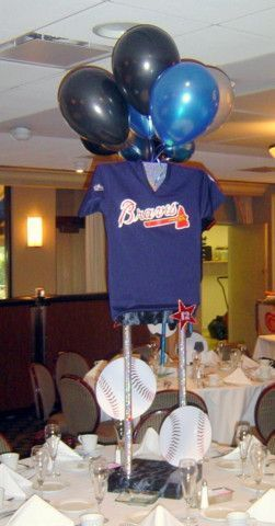 Sports theme centerpieces a bnc baseball banquet pinterest explore baseball wedding centerpieces and more sports theme centerpieces junglespirit