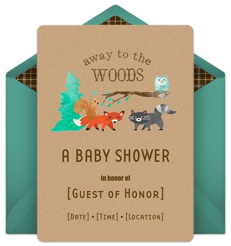 Huggies Woodland Creatures Printables | Woodland Creatures Baby Shower  Invitations And Memory Book