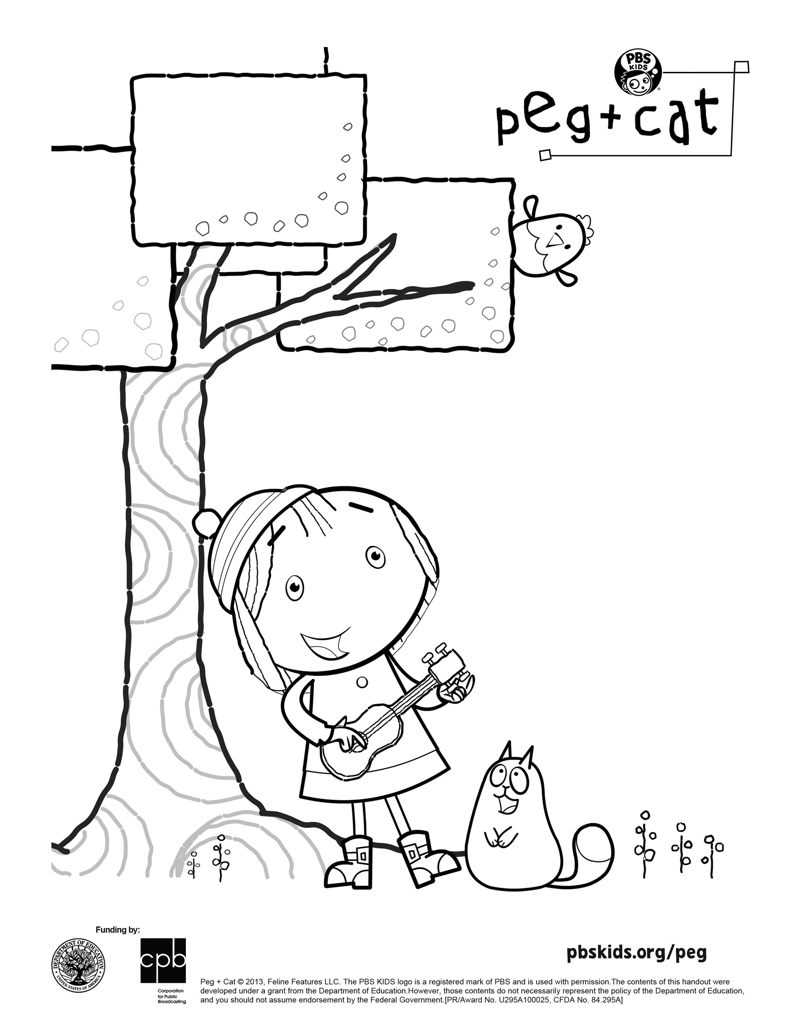 peg cat coloring sheet