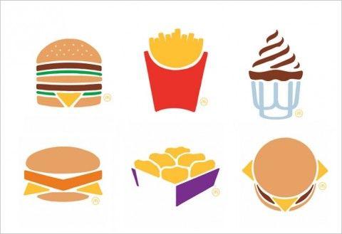 "McDonald's, campagna ""Big 6″ -minimalist icons"