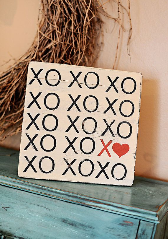 Xo Xo Wood Sign Vintage Inspired Perfect For Valentine S Day