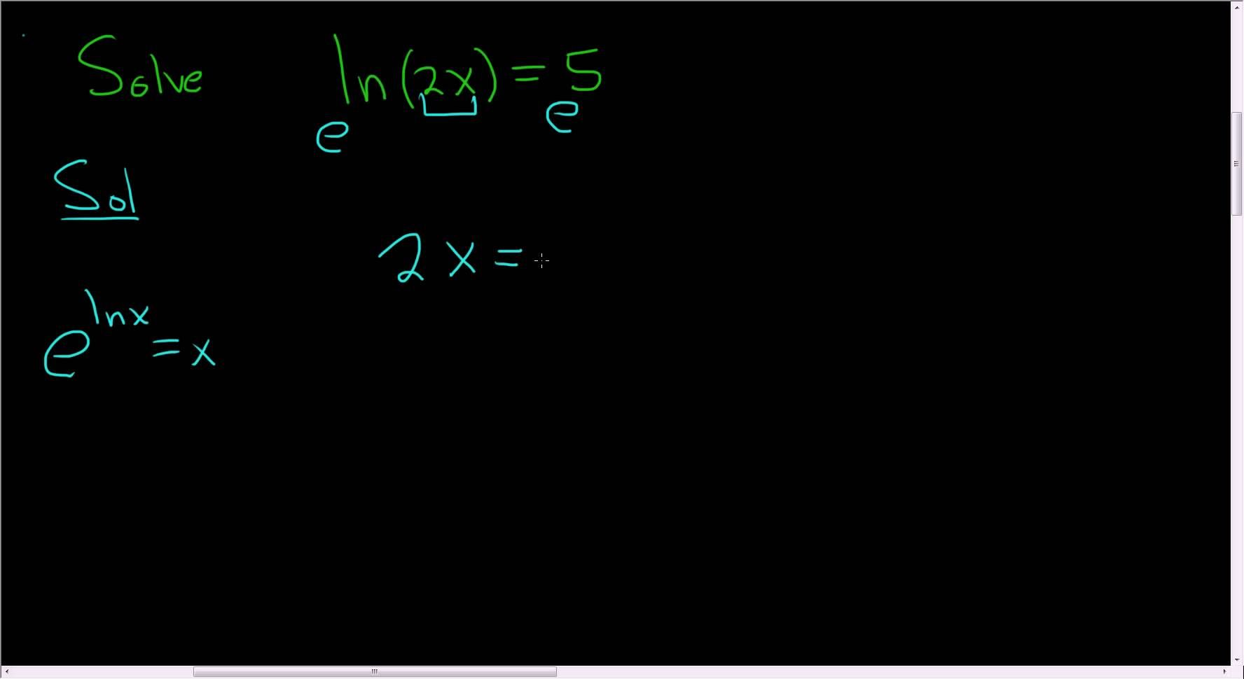 Solving The Logarithmic Equation Ln 2x 5