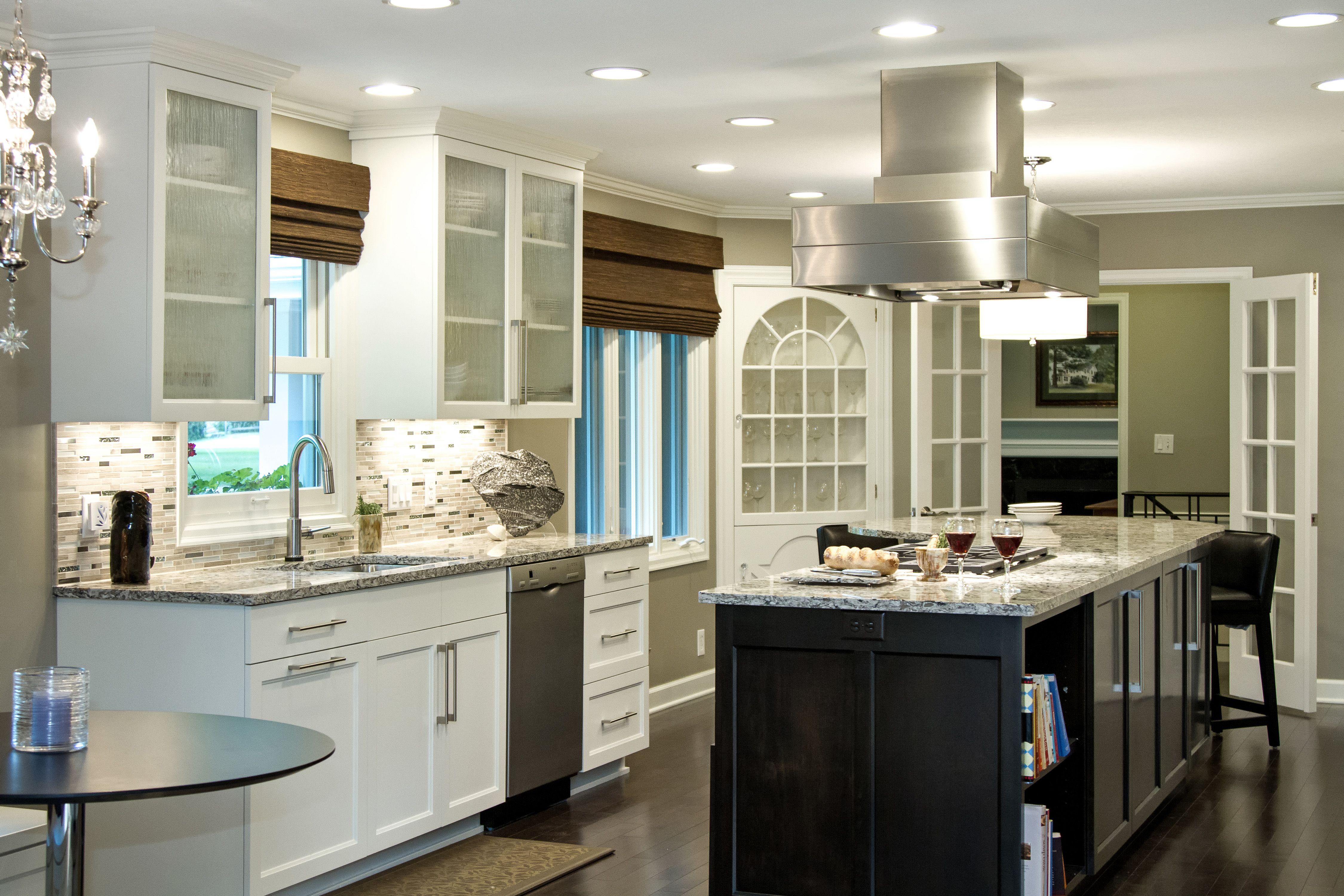 Quartz countertop, stone backsplash   Custom kitchen ...