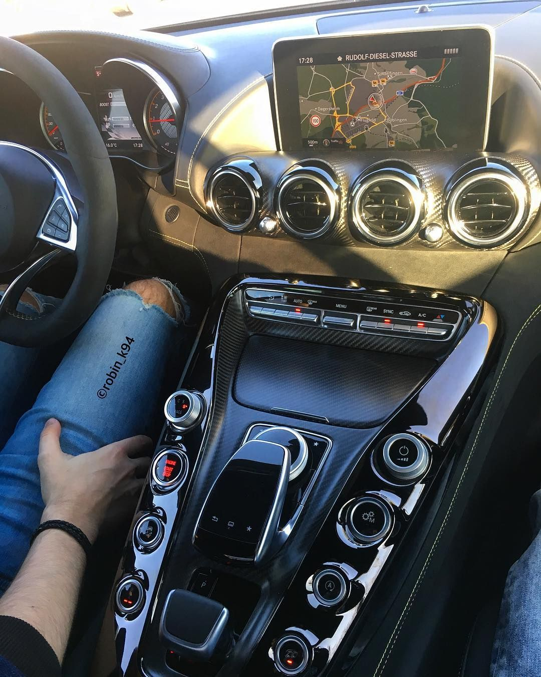 "Mercedes-Benz AMG GTs @robin_k94 on Instagram: ""One of my most favourite interior shots from myself 😍 On tour with the GTs and my good friend…"""