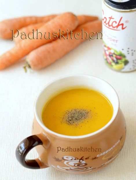 Easy Carrot Soup Recipe Carrot Ginger Soup Low Fat Healthy Soup