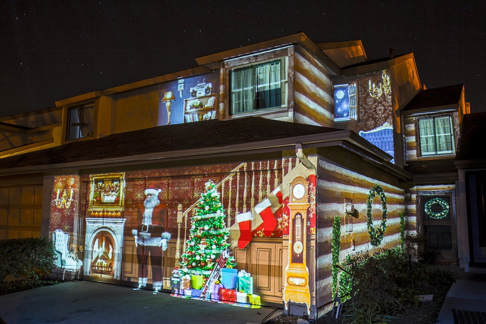 Awesome Christmas Light Projectors And Houses Lit Up Time For The Holidays
