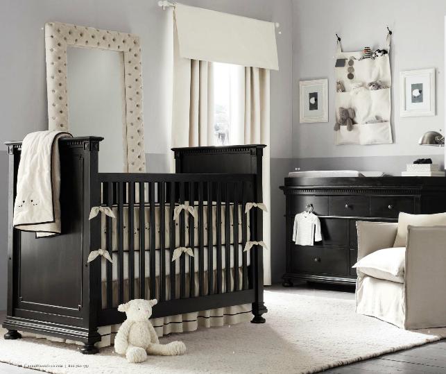 Black Nursery Furniture Dark Wood Neutral