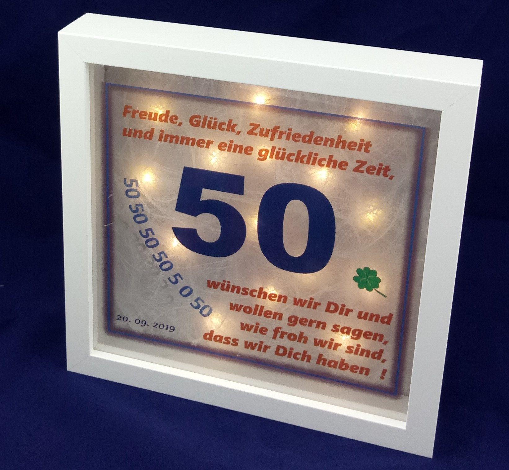 50 Geburtstag Geschenk Geburtstag Personalisiert Geldgeschenk