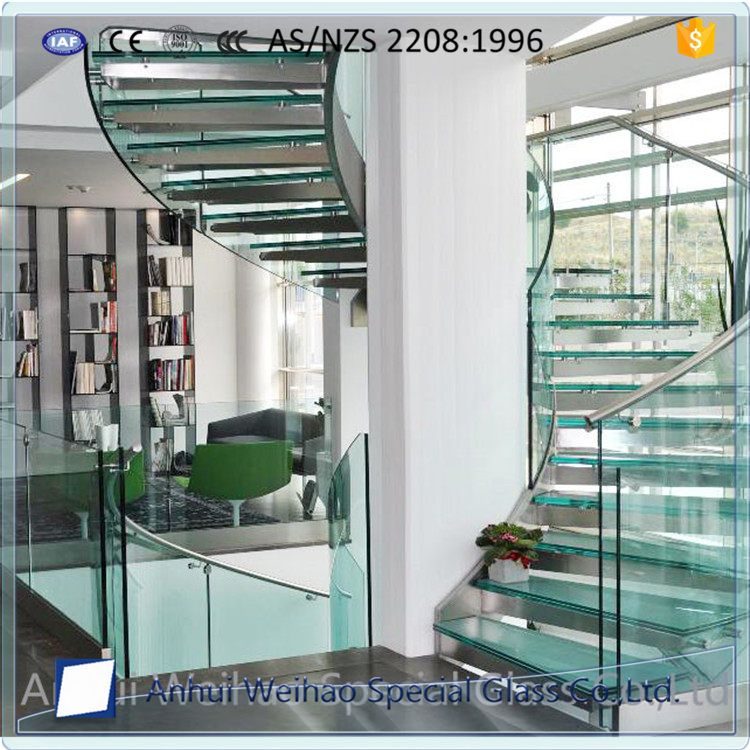 Factory Direct Safety Laminated Glass For Stairs Sprial Staircase