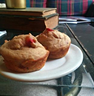 Loose Leaf Vegan: Sugarfree Vegan Strawberry Banana muffins