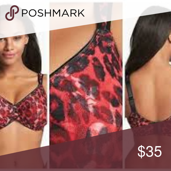 4f6457f185274 NWT Wacoal 855167 Awareness Underwire Bra Red Blck Wacoal 855167 Awareness  Underwire Bra Animal Printed Red Black Size - Various Color - as shown  Condition ...