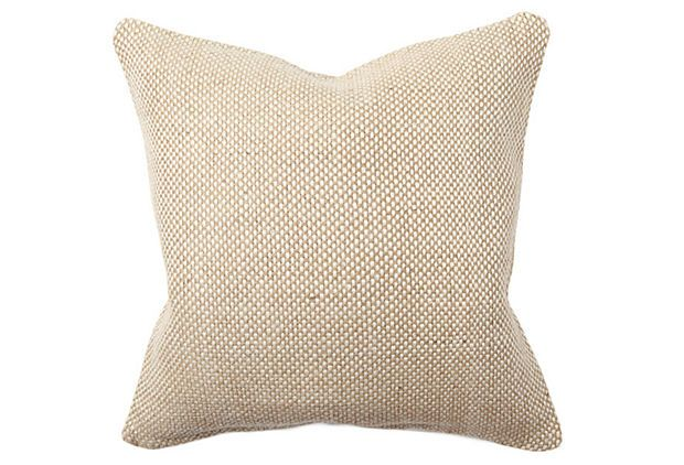 18x18 Bohemian Chic Pillow, Natural