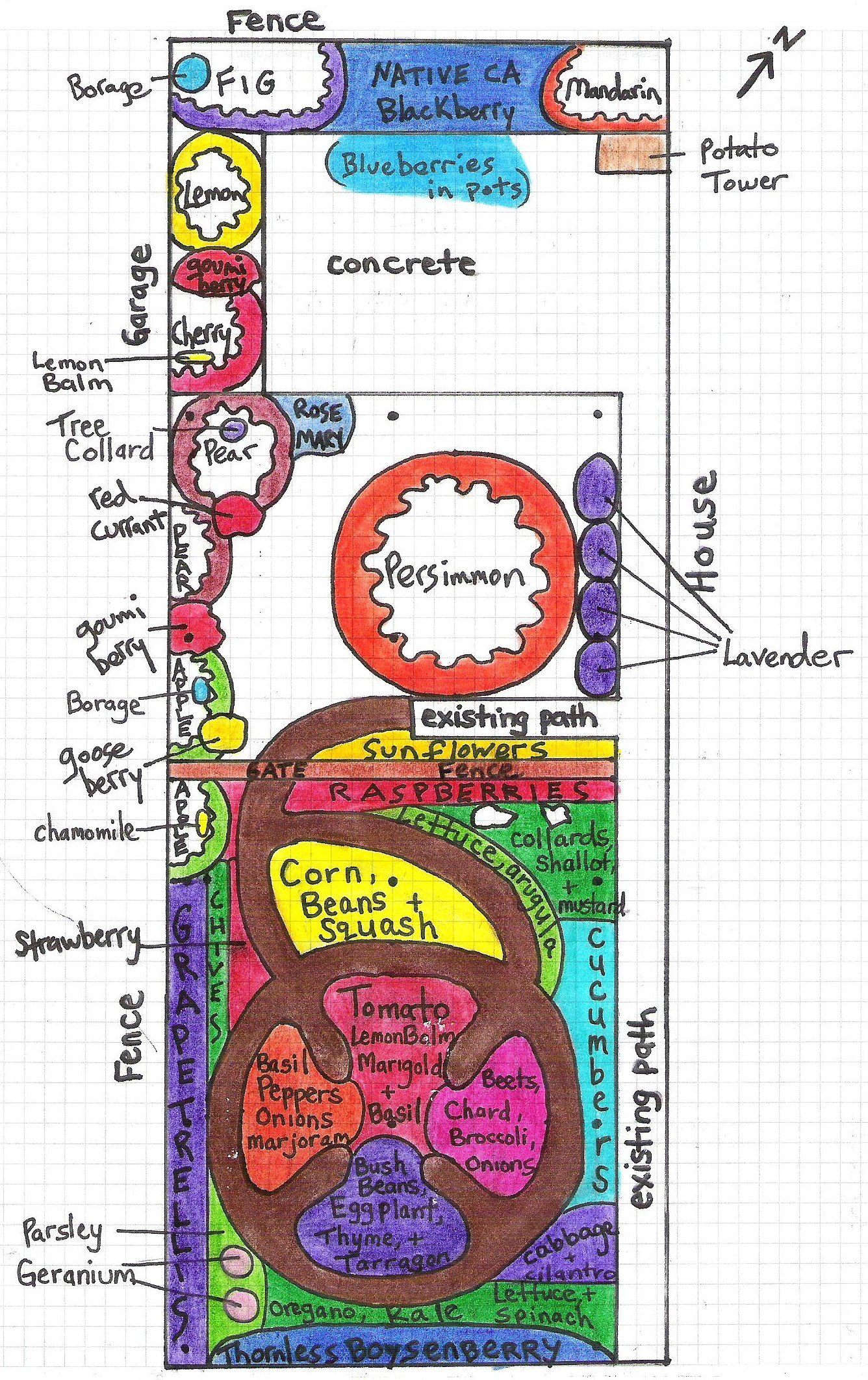 Permaculture Design Examples Google Search: An Urban Permaculture Food Forest Design Friendly For A