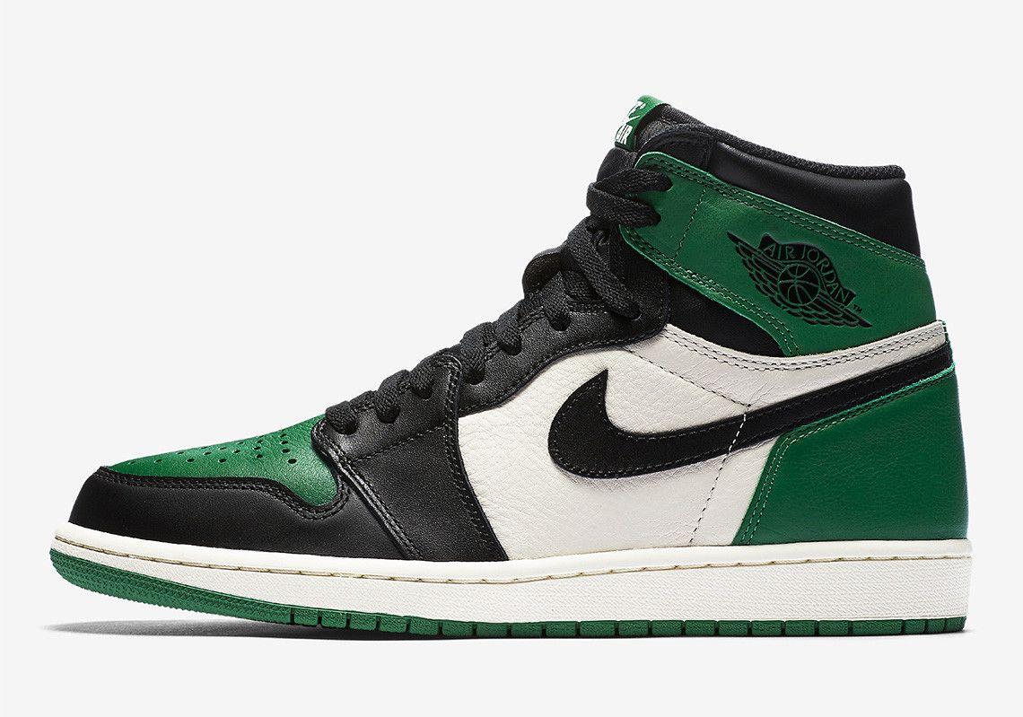 on sale 301fc 615e4 Official Images Of The Air Jordan 1 Retro High OG Pine Green