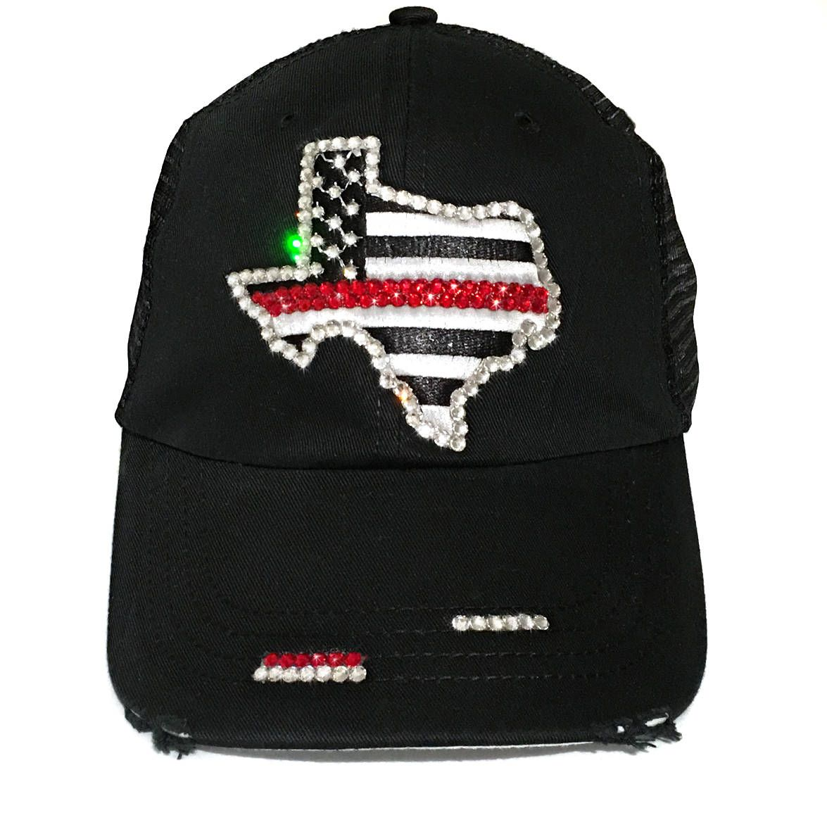 455b9de9220 Love this Thin Red Line Flag Hat.  thinredline  texas  distressedtrucker