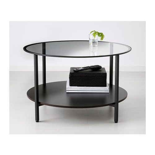 vittsj table basse brun noir verre ikea plateau. Black Bedroom Furniture Sets. Home Design Ideas