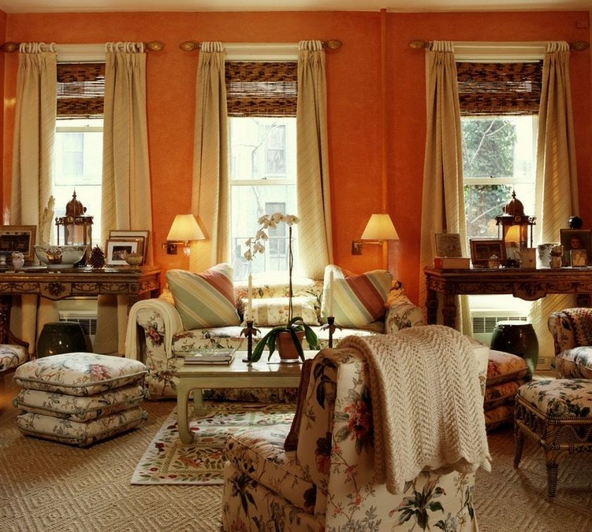 20 Living Room Decorating And Color Ideas 2018: 20 {Great} Shades Of Orange Wall Paint {and Coral, Apricot