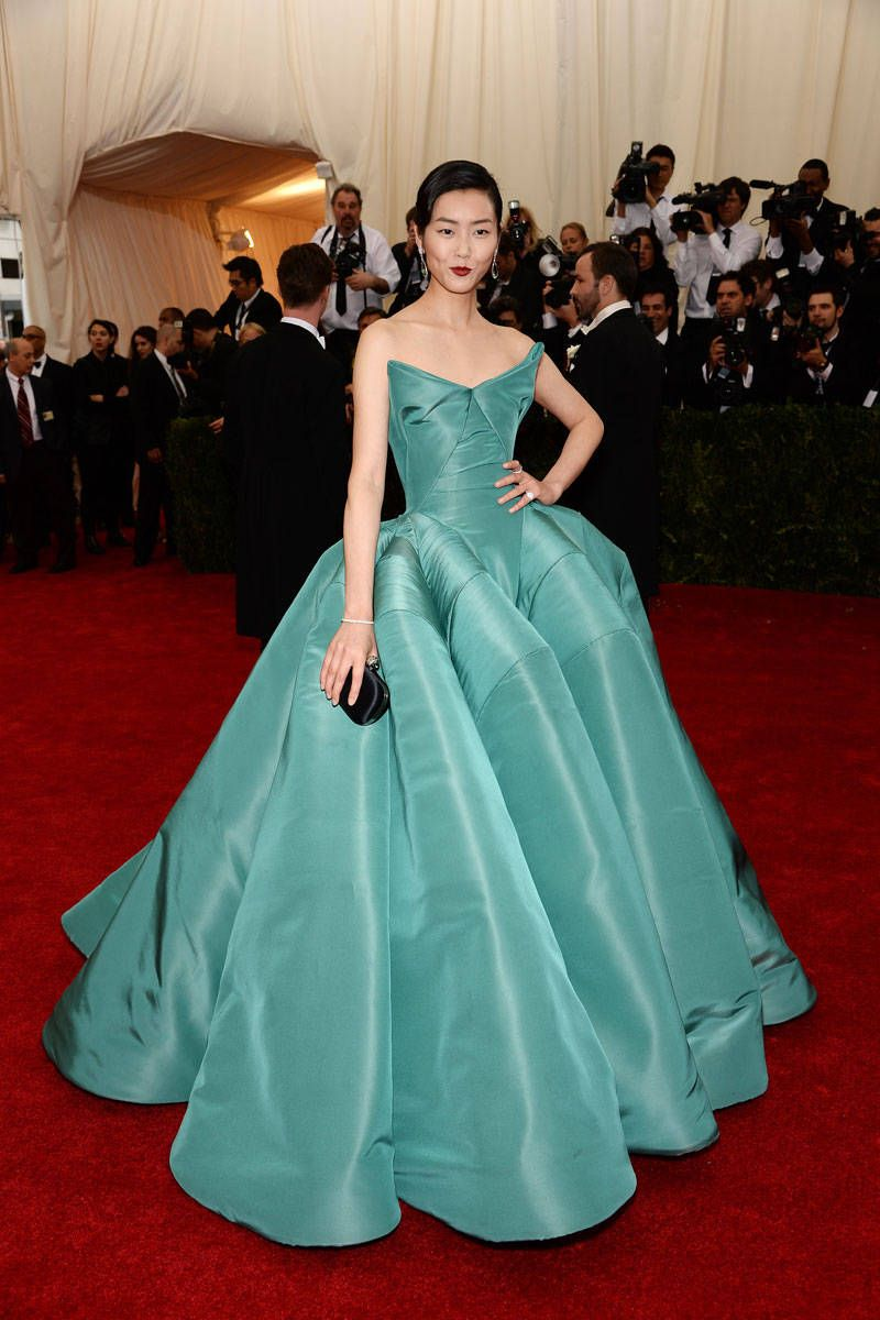 The Best Looks From the 2014 Met Gala | Liu wen, Satin gown and ...