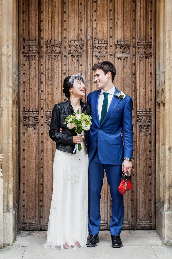 Beautiful 19 Fly As Hell Brides Who Rocked A Leather Jacket With A Wedding Dress