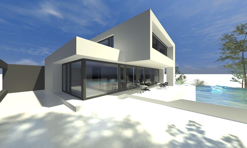 Einfamilienhaus moderne architektur nice moderne for Moderner baustil einfamilienhaus