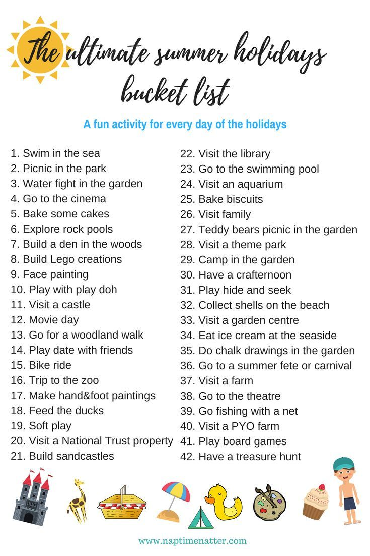The ultimate summer holidays bucket list for kids under 5 -   18 holiday Activities list ideas